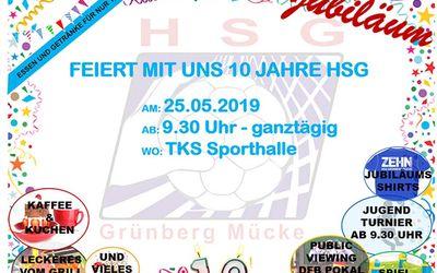 HSG 10 Jahre Plakat