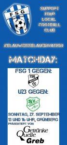 Matchday FSG 1 und U23